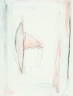 ALBERT RÀFOLS CASAMADA (Barcelona, 1923-2009). Untitled, 1991. Watercolor and wax on paper. Signed and dated in the lower right corner.