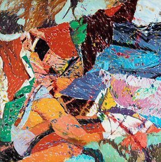 "JUAN CARLOS LASSER (Buenos Aires, 1952 - 2007). ""Chopped landscape"". Oil on canvas."