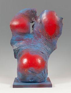 ACISCLO MANZANO (Orense, 1940). Untitled. Polychrome terracotta.