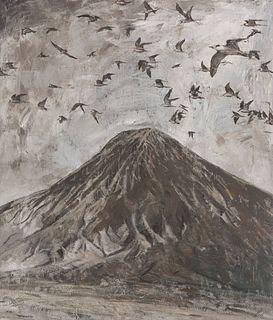 "JAVIER ARTICA (Pamplona, 1984). ""Migration"", 2020. Oil on canvas."