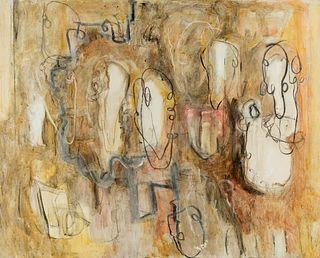 "RAFAEL FORTEZA (Palma de Mallorca, 1955). ""Eternal essence of reality"", Valldemosa, 1988. Oil on canvas."