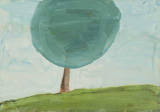 DONALD BAECHLER (Hartford, 1956). Untitled, 1989. Oil on panel.