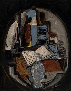 "ISMAEL GONZÁLEZ DE LA SERNA (Guadix, Granada, 1898 - Paris, 1968). ""Still life"". Oil on canvas glued to board."