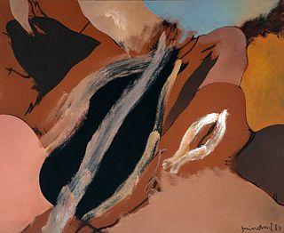 JOSEP GUINOVART BERTRAN (Barcelona, 1927 - 2007). Untitled, 1984. Oil on canvas.