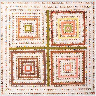 American Geometric Patchwork Quilt