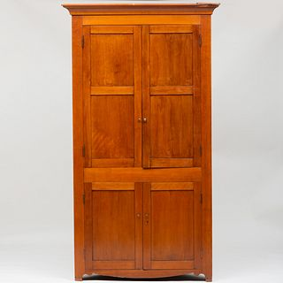 Federal Cherry Corner Cabinet