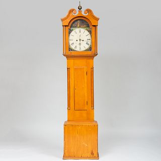 Federal Maple and Pine Long Case Clock