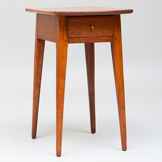 New England Maple Single Drawer Side Table
