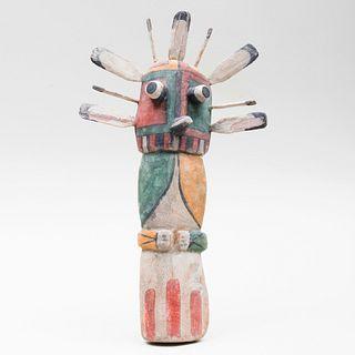 Hopi Wupamo Painted Flat Kachina Doll
