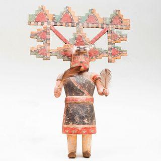 Hopi Painted Wood Palhik Mana Kachina Doll