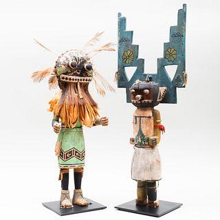 Two Large Hopi Painted Wood Kachina Dolls