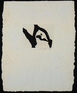 Robert Motherwell - Calligraphic Study II, 1976