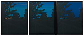 Alex Katz - Twilight Series, 1978, Three Works: 1-3]