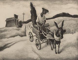 "Thomas Hart Benton - ""Lonesome Road"" 1938"