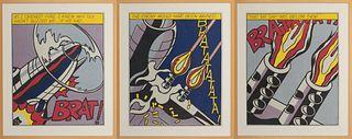 """Roy Lichtenstein - Triptych: """"As I Opened Fire"""" 1964"""
