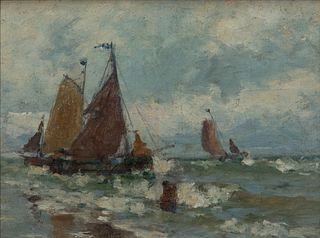 Eurilda Loomis France - Boats by the Shore