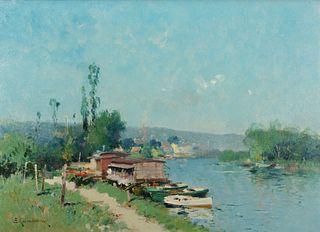 Eugène Galien-Laloue - Along the River