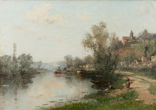 """Maurice Levis - """"La Seine à Hertlay"""""""