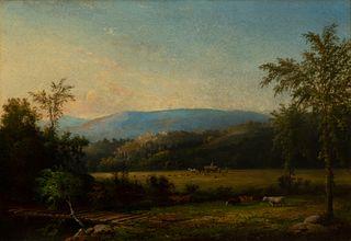 John White Allen Scott - Landscape with Hay Wagon, Possibly New Hampshire