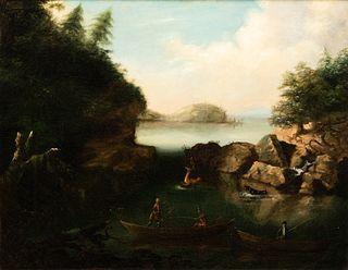 18th/19th Century American School - The Deer Hunt
