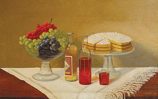Uriah Norton Dyer - Still Life with Cake, 1915