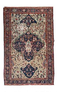 * A Sarouk Farahan Wool Rug 6 feet 7 inches x 4 feet 1 inch.