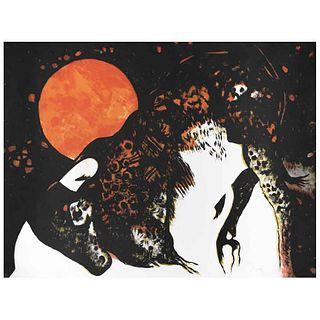 LEONEL MACIEL. Sin título. Firmada. Litografía, P / T. 60 x 80 cm
