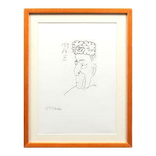 PABLO PICASSO.  III, Le Gout Du Bonheur Sin firma y fechada en plancha 15.9.64. Litografía 597/ 666.