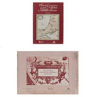 Antochiw, Michel. Historia Cartográfica de la Península de Yucatán. b) Atlas Mapas Antiguos de la Península. de Yucatán. Piezas: 2.