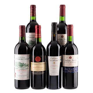 Vinos Tintos de Francia. a) Château Pichaud. b) Château Sorbey. c) Château Aumèdes. Total de piezas: 6.