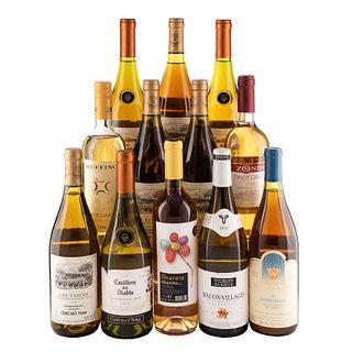 Vinos Blancos y Rosados de Chile, México, Francia, Italia y España. a) Los Vascos. b) Casillero del diablo. Total de piezas: 12.
