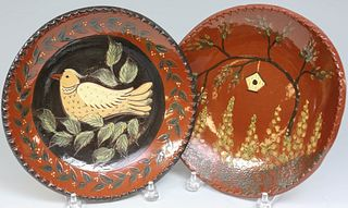 Two Eldreth Redware Plates