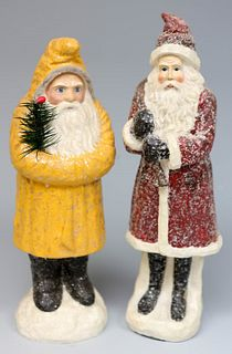 Two belsnickle Santa Claus figures