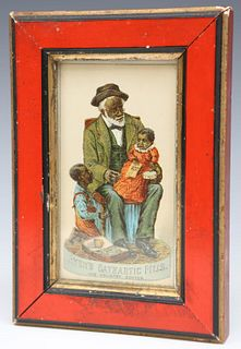 Black Americana Advertising Card