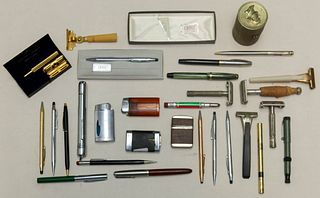 Vintage Pens, Lighters, and Razors