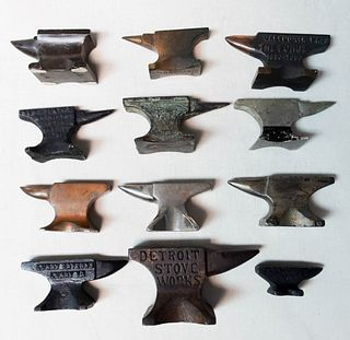 12 Miniature Anvils