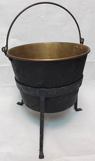 Brass Kettle on Stand