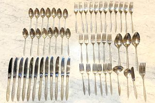 Sterling Silver Wallace Spanish Lace 57 pc Flatware