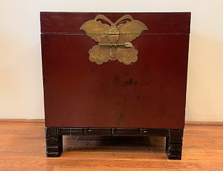 Chinese Chest with Butterfly Closure