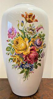 Tall Oversized Porcelain Vase by Heinrich