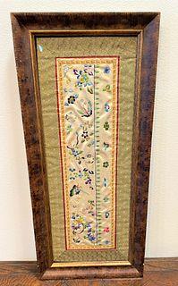 Oriental Silk Tapestry with Butterflies