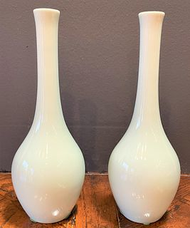 Pair Japanese Bud Vases
