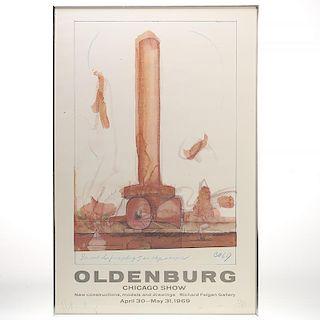 After Claes Oldenburg, lithograph
