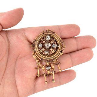 Antique Diamond and 18K Pendant / Brooch