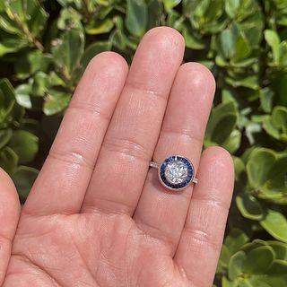 Diamond, Sapphire and 18K Ring
