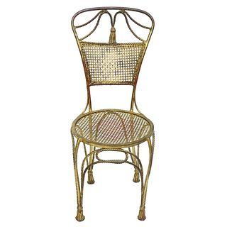 Italian Gilt Iron Chair