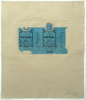 Robert Motherwell - Roth-Handle II (Blue), 1975