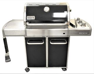 Weber Genesis Grill, stainless and black.