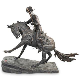 """Frederic Remington """"The Cowboy"""" Bronze Sculpture"""