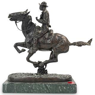 "Frederic Remington ""Trooper of the Plains"" Bronze"